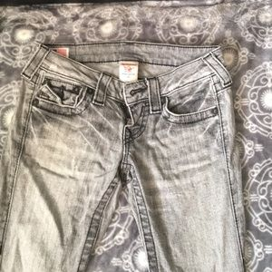 True religion low rise bootcut jeans